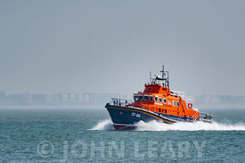 Although based in St Peters Port Guernsey, the Severn Class Lifeboat Spirit of Guernsey (17-04) was photographed here crossin...