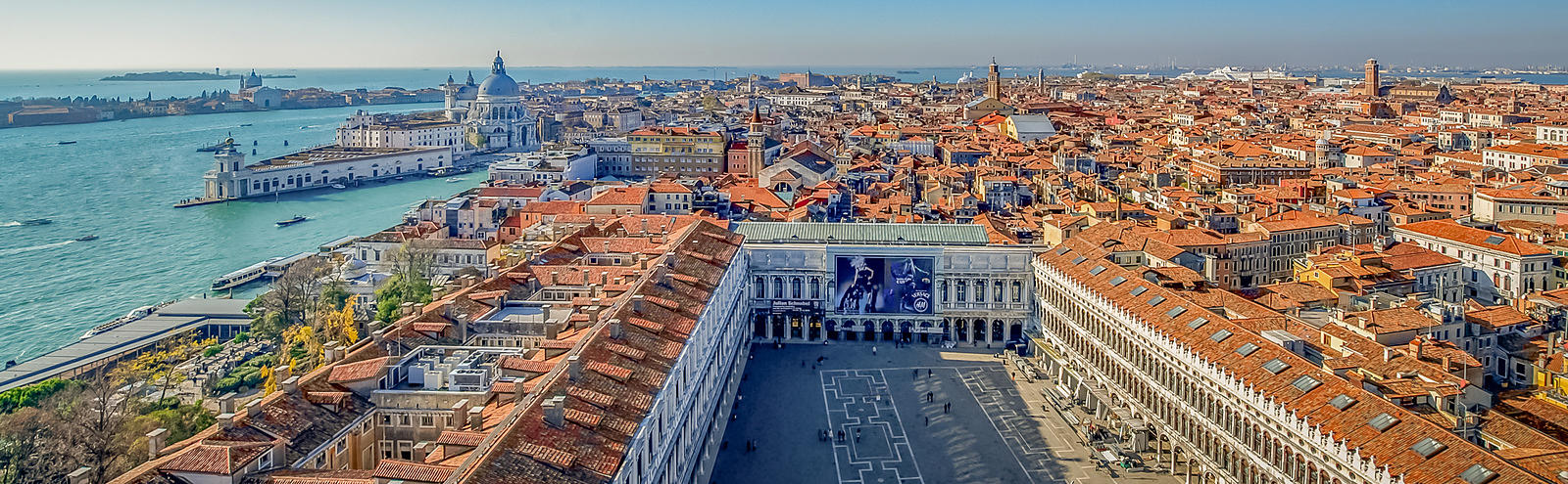Aerial View of St Mark's Square, Venice