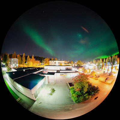 Rare dune form of Aurora above the urban landscape of Lahti, southern Finland on October 7th 2018..