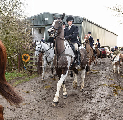 HB leaving the meet. The Cottesmore Hunt at Launde Park Farm