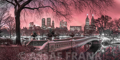 Central park with Manhattan skyline, New York