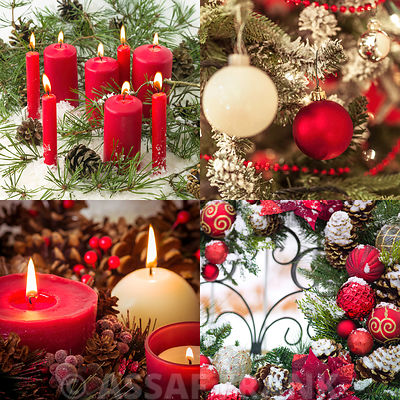 Festive Candles and Baubles