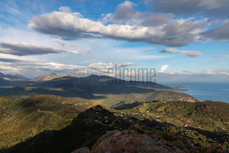 View of the Madonie Mountains from Pollina looking West towards Cefalù
