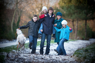 Graham Alexander with his family