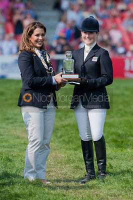 Laura Collett at the prizegiving, Badminton Horse Trials 2011.