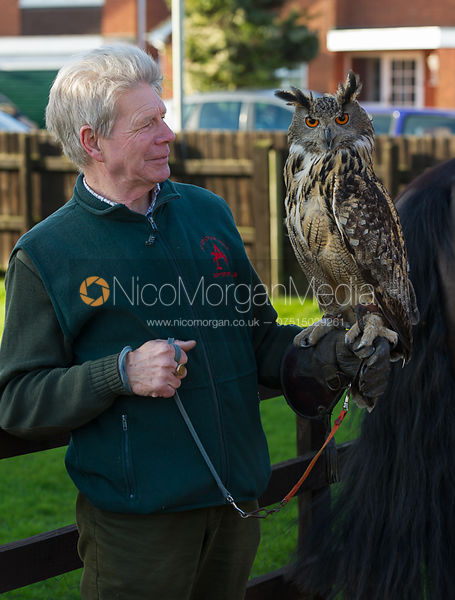 Bob Wellband and Chloe, the Atherstone's Eagle Owl