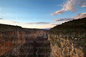 View of Torotoro Canyon at sunset, Torotoro National Park, Bolivia