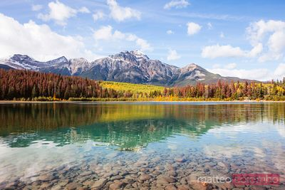 Patricia lake in autumn, Jasper National Park, Canada