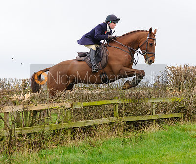 Yasmin Farmer-Day jumping at Stone Lodge Farm - The Cottesmore Hunt at Tilton on the Hill, 9-11-13