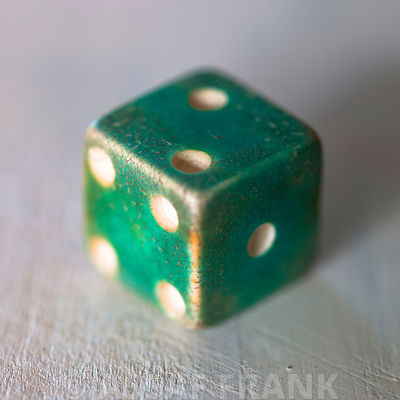 Old die, close-up