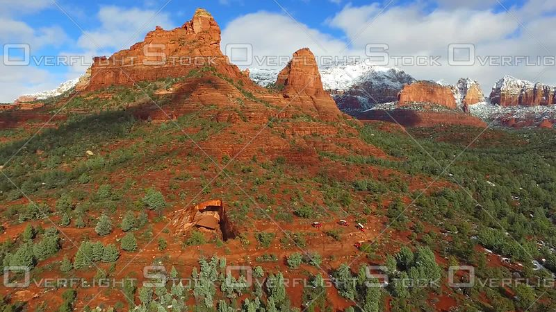 Sedona Arizona - Snow on Red Rocks