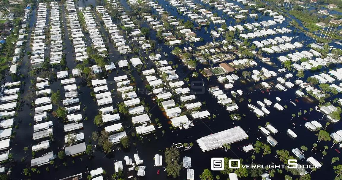 Flooding of Homes in the Aftermath of Hurricane Irma Florida