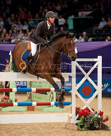 Timothy Davies and Enrique - Dick Turpin Stakes -  HOYS 2011