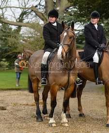 At the Cottesmore Hunt meet at Little Dalby Hall