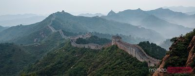 Panoramic of the Great Wall near Jinshanling, China