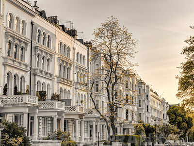 British culture buildings in Notting Hill, London