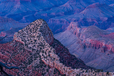 Ridge in the Grand Canyon, Grand Canyon National Park, Arizona, USA, February 2015.