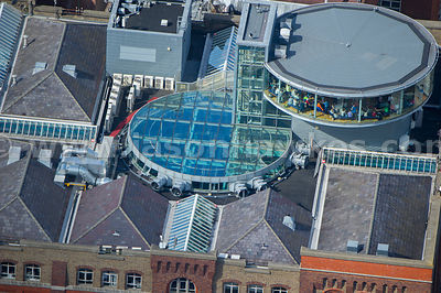 Aerial view of the Guinness Storehouse, Dublin, Ireland