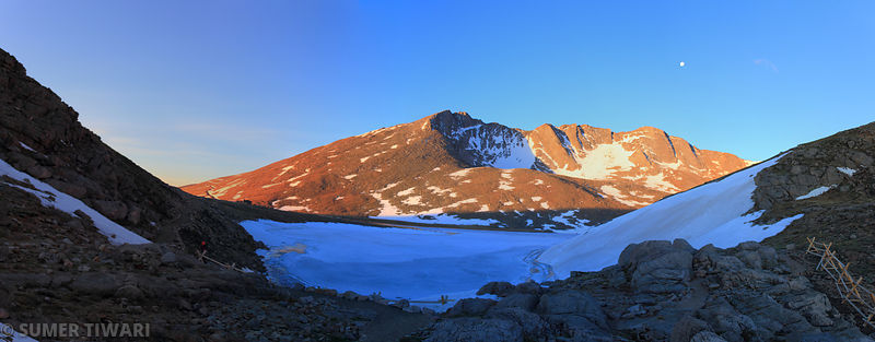 Mt. Evans in the golden hour