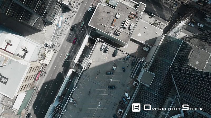 Drone Video Verical View of DowntownToronto Ontario Canada