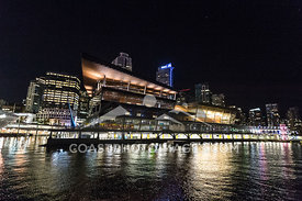 May 8th 2015, Vancouver Convention Center at night from a boat cruise on Sunset Bay II. Photo by Scott Brammer - coastphoto.com