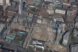 Circle Square development area of Oxford road Manchester