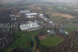Skelmersdale high level aerial view of the Rodco Works and the Stanley Industrial Estate