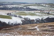 Snow over Exmoor