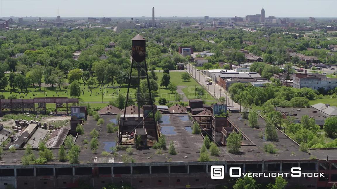 Drone Video Abandoned Packard Plant Detroit Michigan