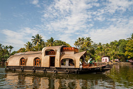 Houseboat on Kerala backwaters, India