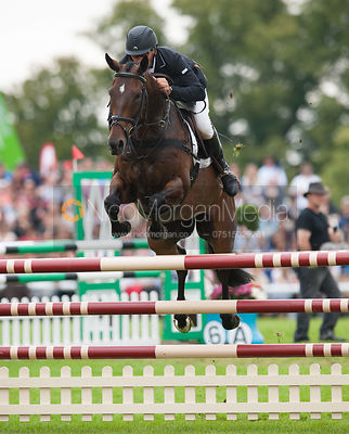 Andrew Nicholson and Calico Joe - show jumping phase,  Land Rover Burghley Horse Trials, 2nd September 2012.