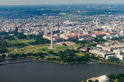 George Washington Memorial aerial photo