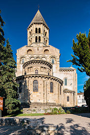 Chevet fo the roman church of Saint Saturnin