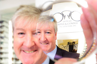 Damien Conway,  Director of Dipple and Conway Opticians..Photography  by Jason Bye.t: 07966 173 930.e: mail@jasonbye.com.w: w...