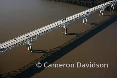 Aerial of Interstate 95 bridge over the Susquehanna River.