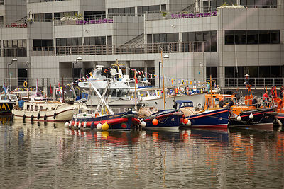 RNLI Boats Waiting for the River Pageant to begin