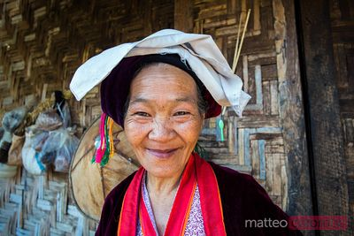Portriat of old asian woman, Shan state, Myanmar