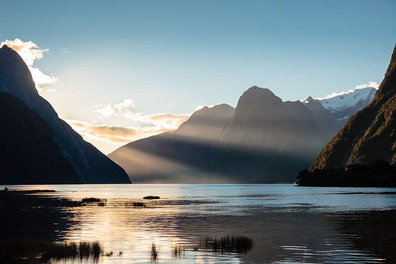 The bonus reward for finishing an already rewarding #mildfordtrack hike was this sunset view of the #milfordsound on the #sou...