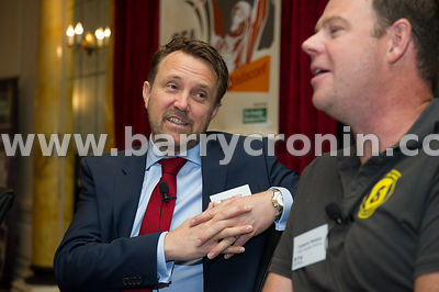 Wednesday 9th June, 2015.Small Firms Association 'Boost' Conference at the Clyde Court Hotel. Pictured is  Wayne Byrne (Oxyme...