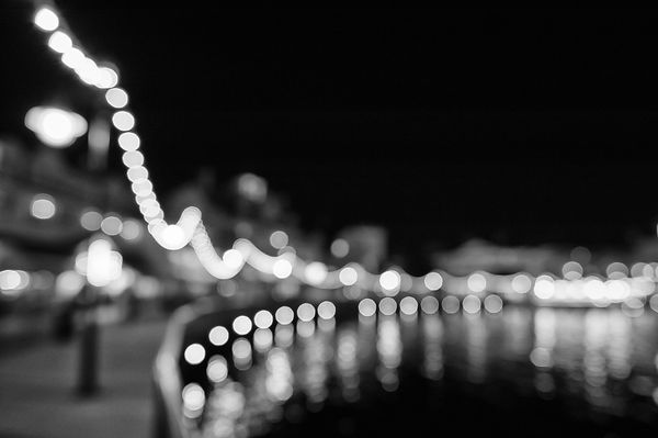 Disney's Boardwalk Resort at Night - Monochrome