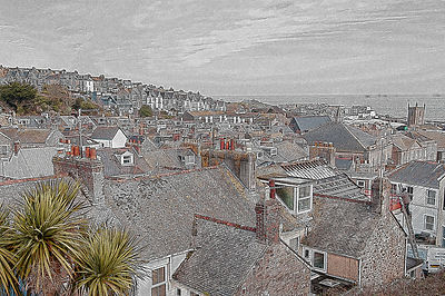 Rooftops of St Ives, Cornwall, UK