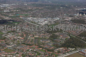 Concord Business Park looking towards Wythenshaw town centre and the surrounding housing estates