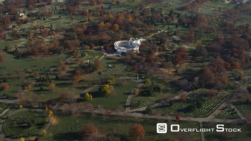 Over Arlington National Cemetery With Memorial Amphitheater and Tomb of the Unknowns in Mid-ground, Confederate Memorial at B...