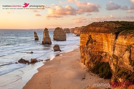 Sunset over famous twelve apostles, Australia