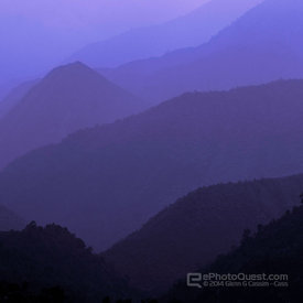 Hazy Mountain Views Near Sapa