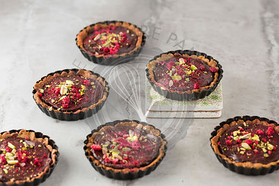 Spiced Chocolate Tarts.