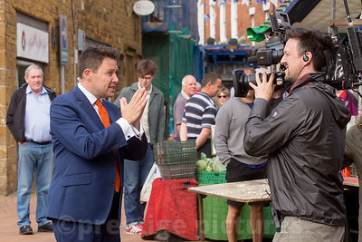 Presenter Jon Kay fronts BBC Breakfast live from Banbury market after the EC referendum