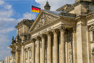 Closeup of The Reichstag Building in Berlin