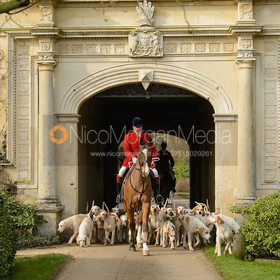The Cottesmore Hunt at Stapleford Park 27/2