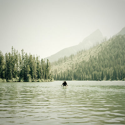 Canoeing on String Lake, Grand Teton National Park, Wyoming
